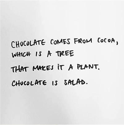 Chocolat salade