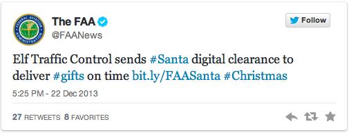 FAA Santa Claus