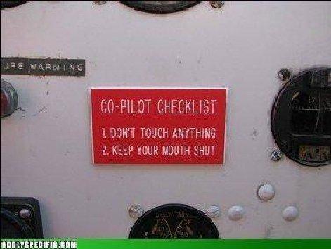Co-pilot Check list