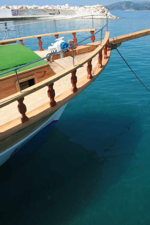 Kaic dans le port de Demre