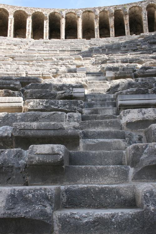 Escaliers à Aspendos