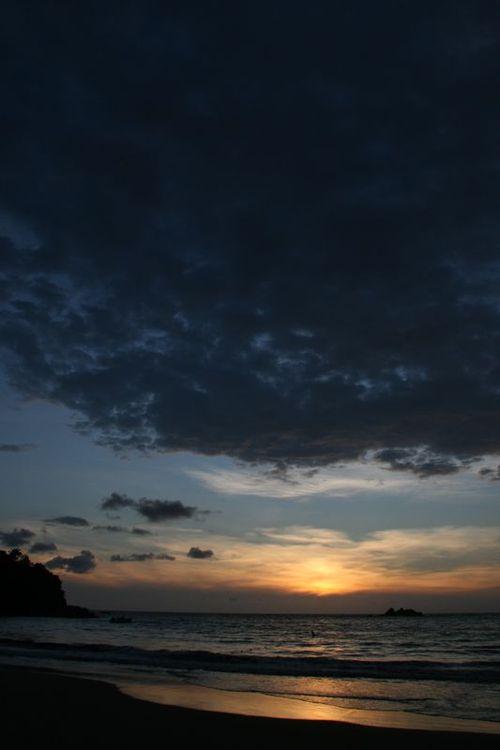 Coucher de soleil sur le Pacifique