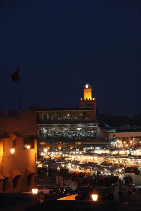 Place Jema El Fna le soir